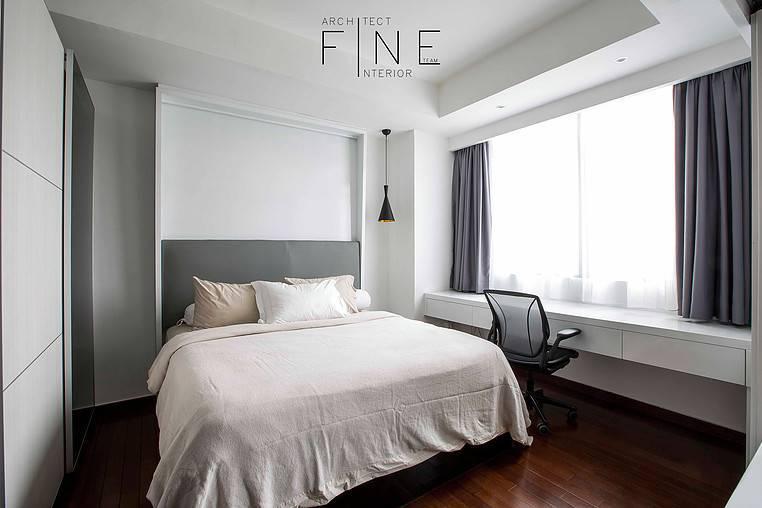 Foto inspirasi ide desain apartemen modern Bedroom oleh Fine Team Studio di Arsitag