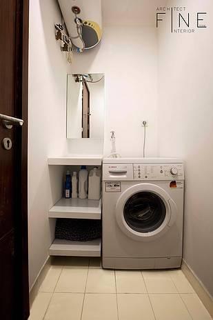 Foto inspirasi ide desain laundry Laundry area oleh Fine Team Studio di Arsitag