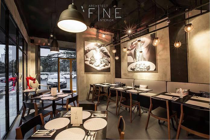 Foto inspirasi ide desain modern Avec moi  restaurant oleh Fine Team Studio di Arsitag