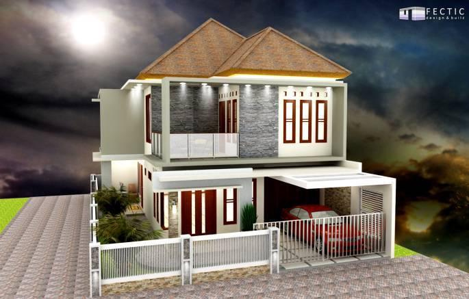 Pt. Fectic Maha Karya Personal House 3 Godean, Yogyakarta Godean, Yogyakarta Back-View Modern 5106