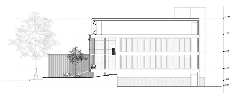 Para Architects Lembong Land By Para Architects Bandung, West Java, Indonesia Bandung, West Java, Indonesia Longitudinal-Section Modern 4599