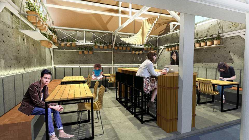 Foto inspirasi ide desain restoran Dining area oleh TAU Architect di Arsitag