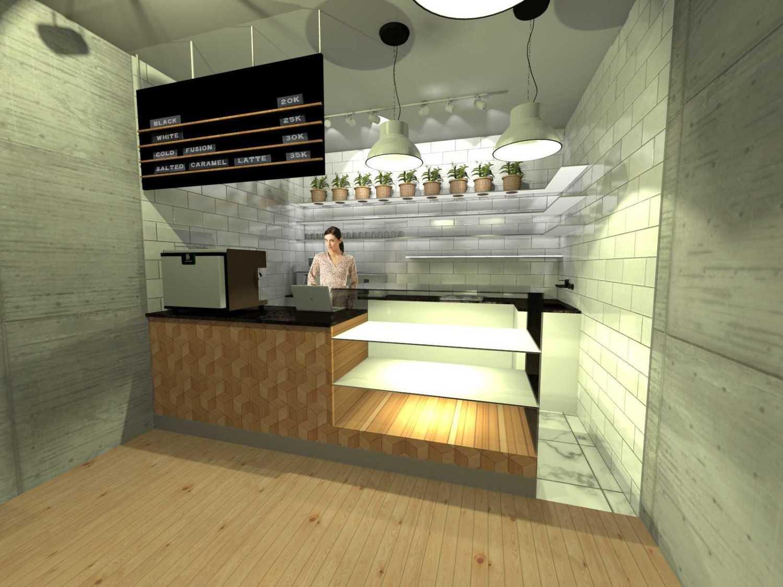 Foto inspirasi ide desain display area minimalis Front-counter oleh TAU Architect di Arsitag