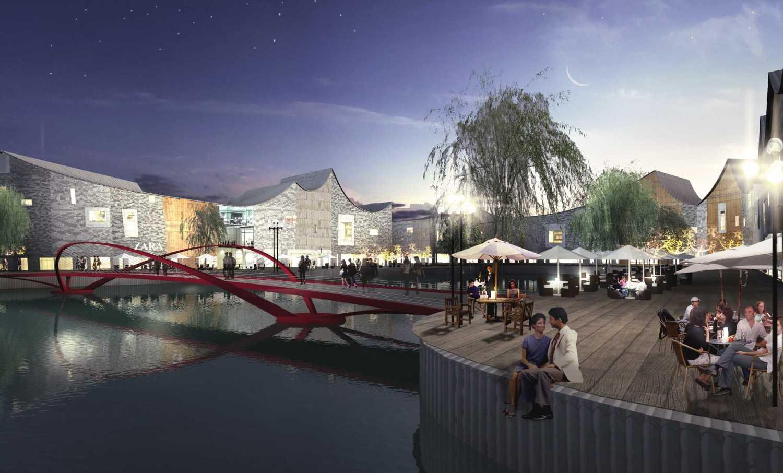 Foto inspirasi ide desain kolam asian Bridge oleh TAU Architect di Arsitag