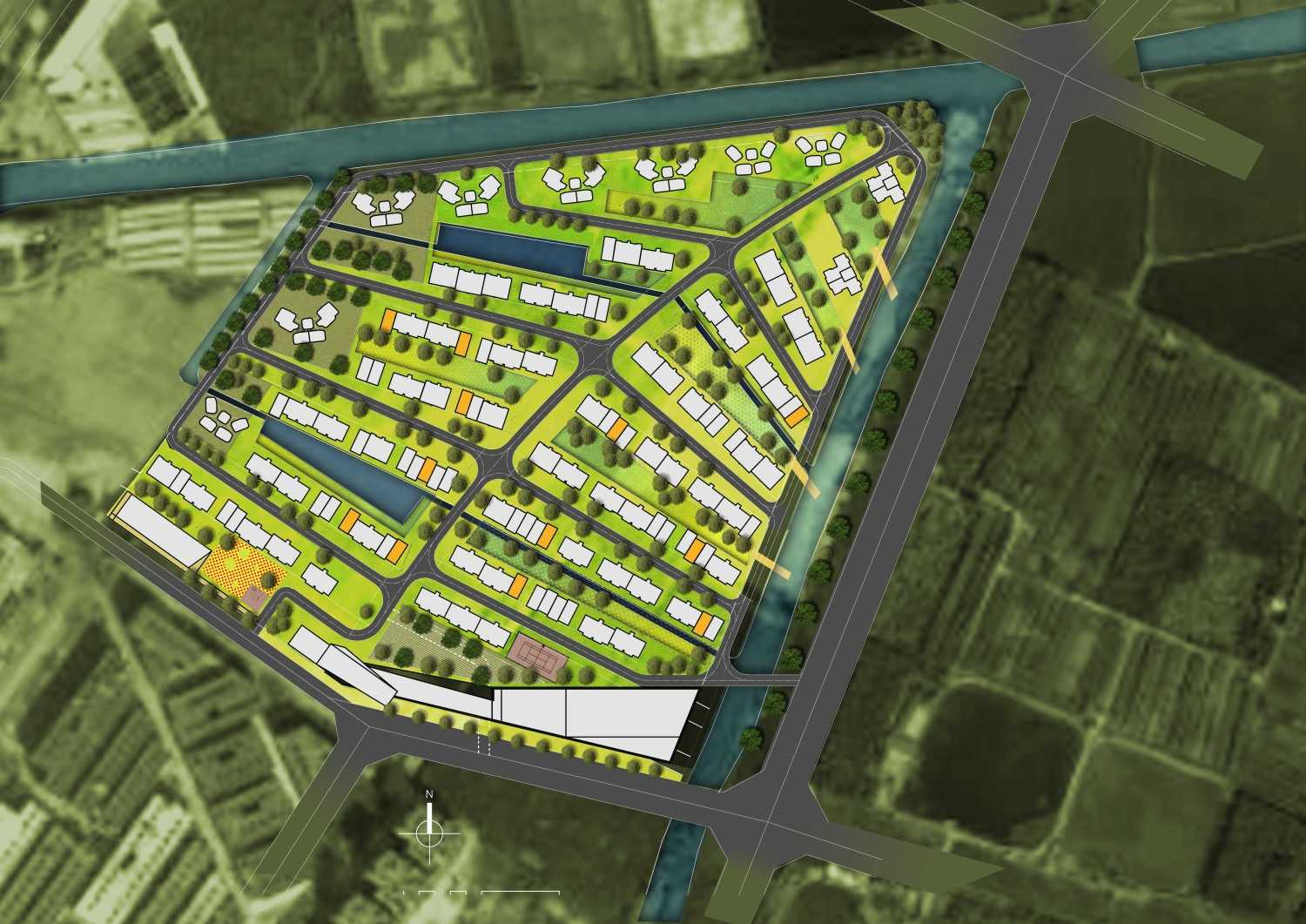 Tau Architect Zhuhai Residential Development Zhuhai,china Zhuhai,china P-Masterplan-Colour Kontemporer 13871