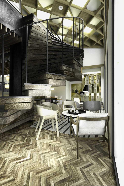 Foto inspirasi ide desain tangga kontemporer Draft02 oleh TAU Architect di Arsitag