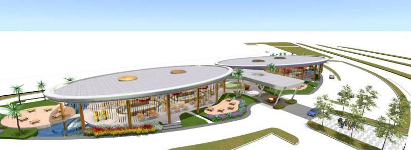 Tau Architect Foodcity At Golf Island Pluit North Jakarta, Indonesia North Jakarta, Indonesia Aerial-View Modern 3657