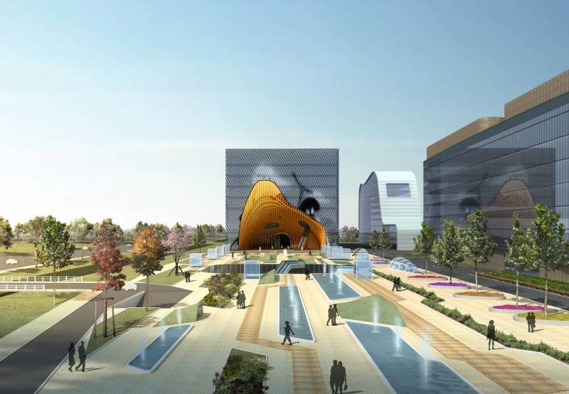 Tau Architect Animation Museum At Hangzhou China China Museum-Hall-Front-View Kontemporer 3680