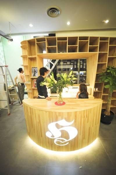 Tau Architect Hair Corner  Shanghai ,china Shanghai ,china Reception Area Minimalis 4828