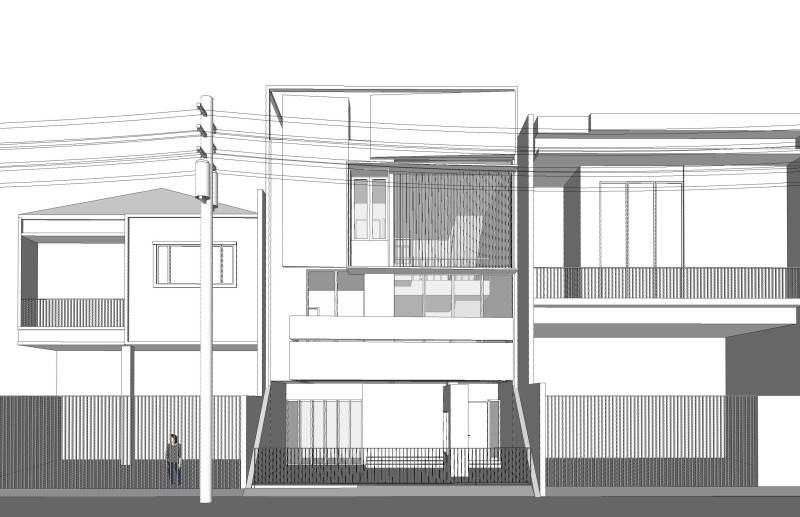 Nico Gowindra Wn-House Muara Karang - Jakarta Muara Karang - Jakarta Studi-Massa Kontemporer,modern,industrial 3824