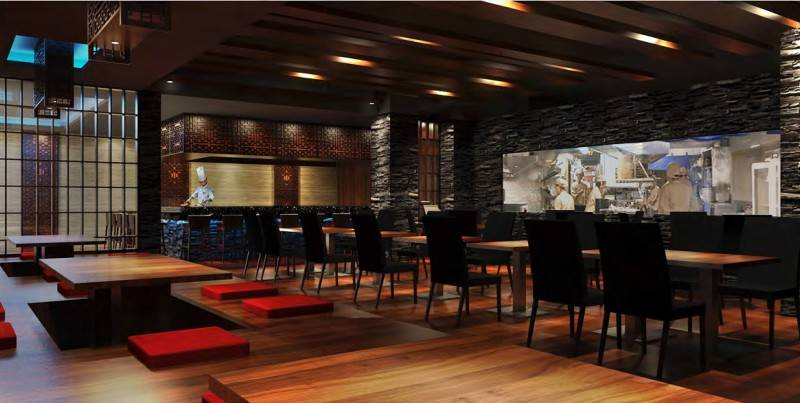 Foto inspirasi ide desain retail asian Japanese-restaurant oleh MUL I.D Design Consultant di Arsitag