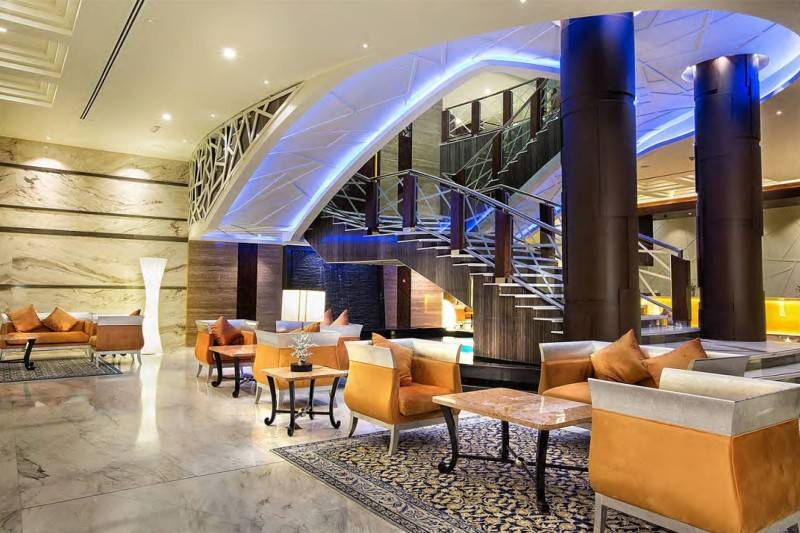 Mul I.d Design Consultant Ghaya Grand Hotel At Dubai United Arab Emirates United Arab Emirates Lobby-Lounge-Area  3872