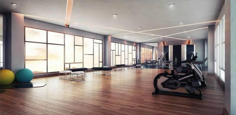 Foto inspirasi ide desain gym modern Fitness-villa-lv.22 oleh MUL I.D Design Consultant di Arsitag