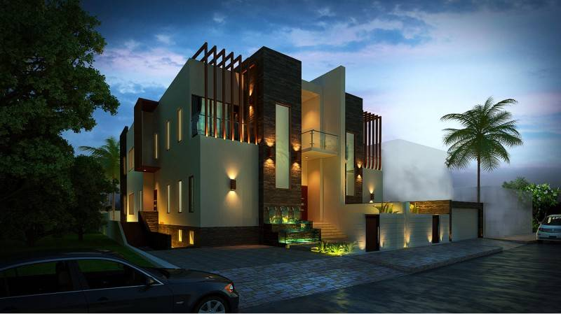Mul I.d Design Consultant Private Villa At Jumeirah Dubai, United Arab Emirates Dubai, United Arab Emirates Facade Minimalis,modern,wood,glass 3918