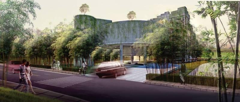 Foto inspirasi ide desain apartemen tropis Front-view oleh AKANOMA YU SING di Arsitag