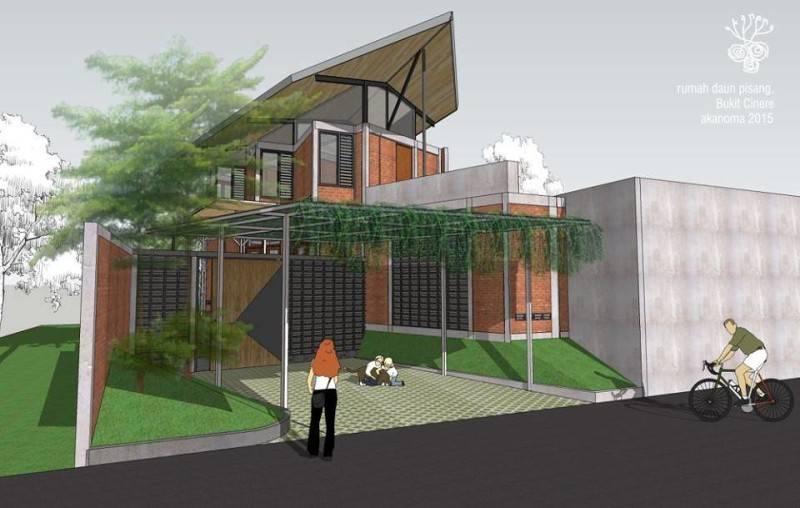 Foto inspirasi ide desain taman kontemporer Perspektif-eksterior-1 oleh AKANOMA YU SING di Arsitag