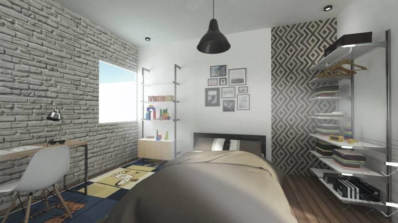 Foto inspirasi ide desain kamar tidur industrial Bedroom oleh SNRG Studio di Arsitag