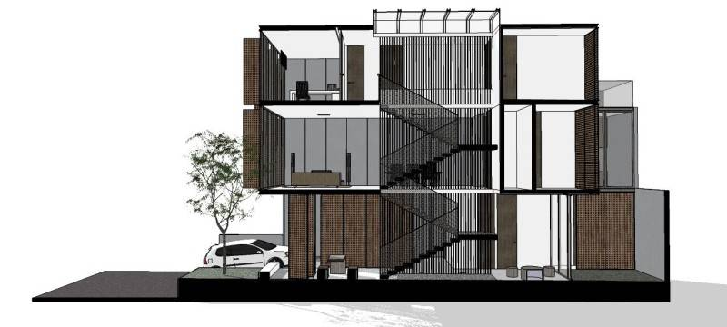 Ads Architect Mekarwangi House 'wall & Slab House' South Bandung, West Java, Indonesia South Bandung, West Java, Indonesia Section2 Modern,tropis 4266