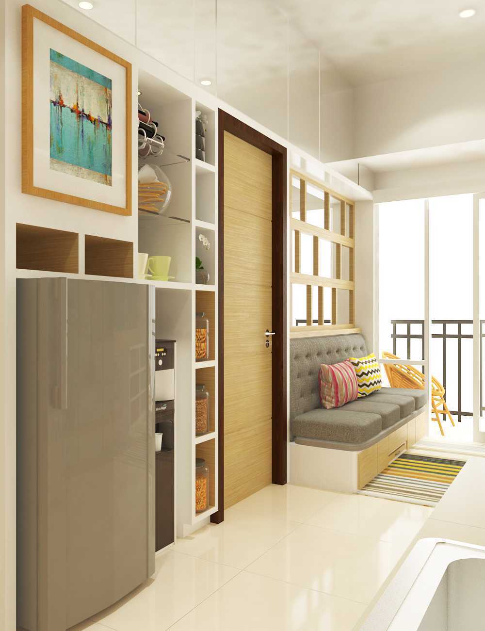 Miv Architects (Ar. Muhammad Ikhsan Hamiru, Iai & Partners) Interior Design Of Apartment Unit Makassar, South Sulawesi, Indonesia Makassar, South Sulawesi, Indonesia Apartment Room Design Kontemporer 29125
