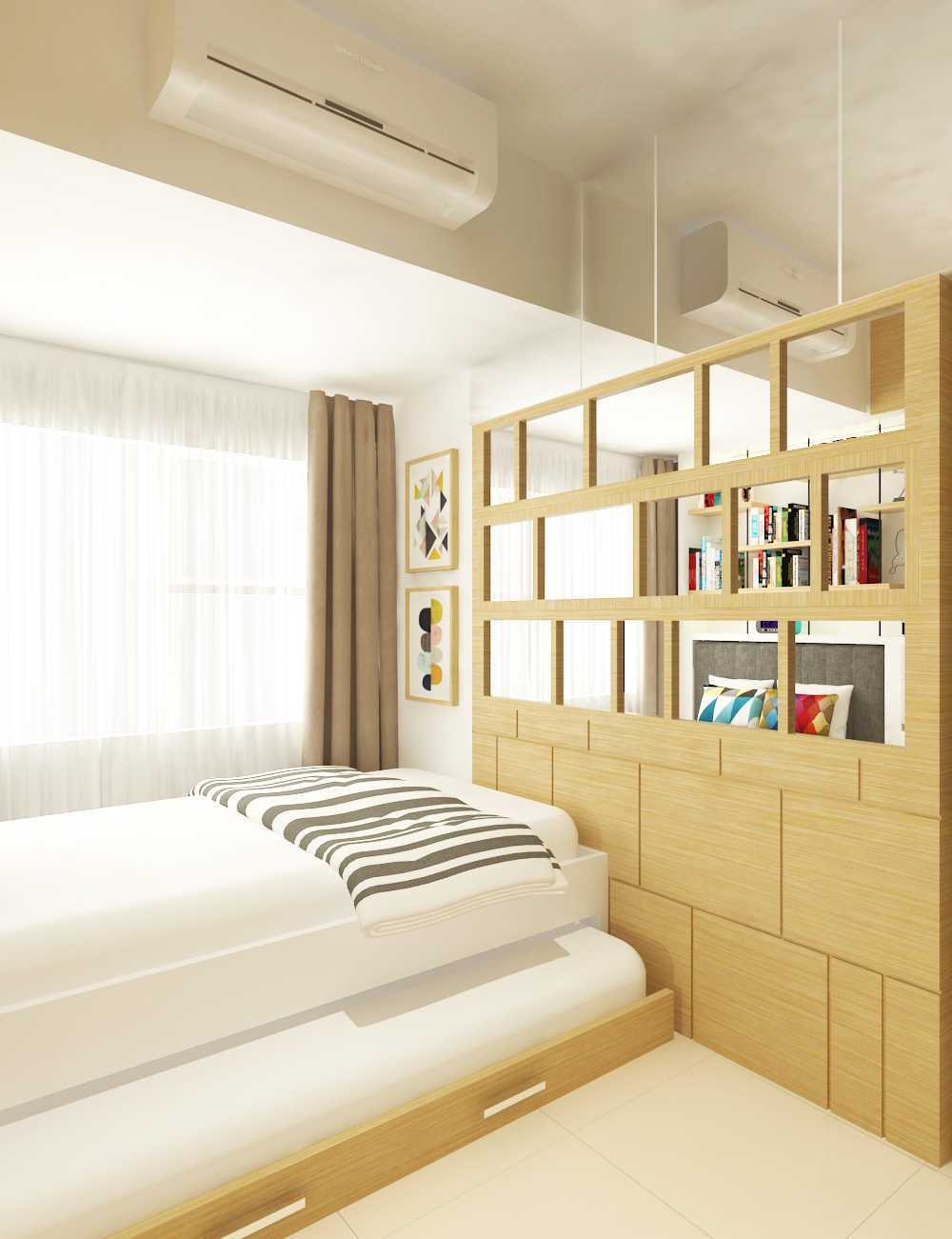 Miv Architects (Ar. Muhammad Ikhsan Hamiru, Iai & Partners) Interior Design Of Apartment Unit Makassar, South Sulawesi, Indonesia Makassar, South Sulawesi, Indonesia Apartment Room Design Skandinavia 29132