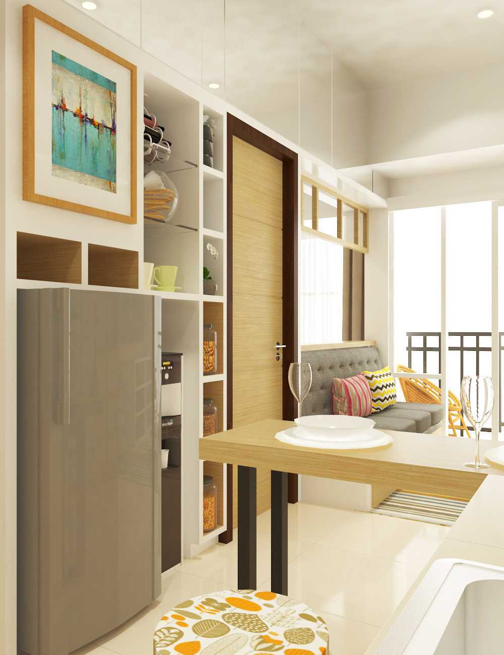 Miv Architects (Ar. Muhammad Ikhsan Hamiru, Iai & Partners) Interior Design Of Apartment Unit Makassar, South Sulawesi, Indonesia Makassar, South Sulawesi, Indonesia Apartment Room Design Skandinavia 29136