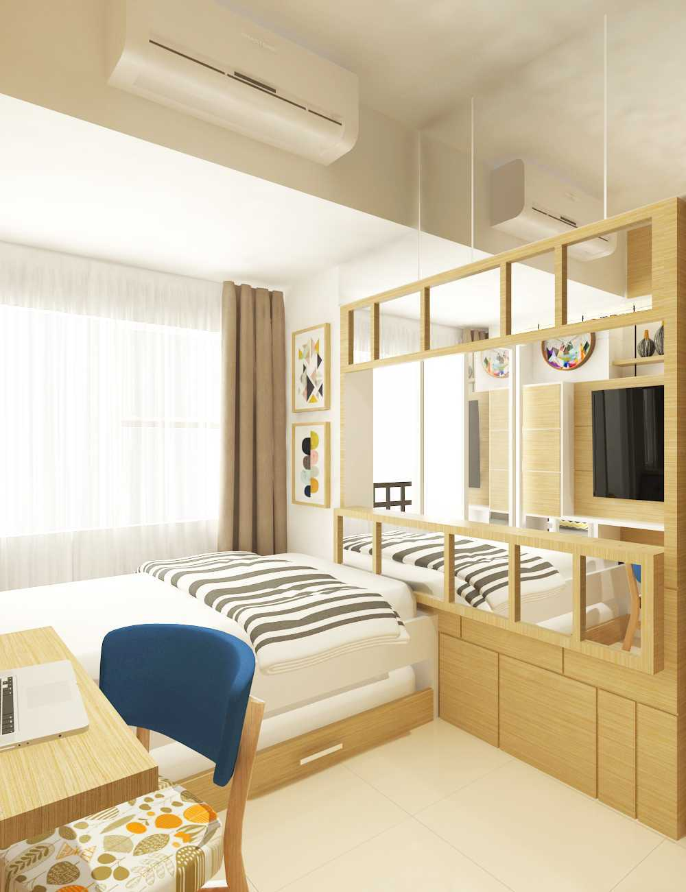 Miv Architects (Ar. Muhammad Ikhsan Hamiru, Iai & Partners) Interior Design Of Apartment Unit Makassar, South Sulawesi, Indonesia Makassar, South Sulawesi, Indonesia Apartment Room Design Skandinavia 29143