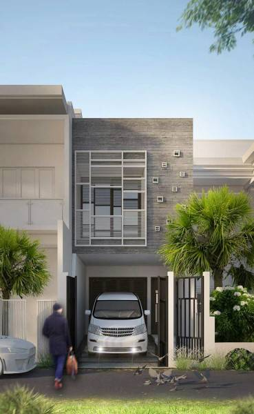 Miv Architects (Ar. Muhammad Ikhsan Hamiru, Iai & Partners) Home & Mini Office Makassar, Sulawesi Selatan, Indonesia Makassar, Sulawesi Selatan, Indonesia Front View Minimalis,modern 5019