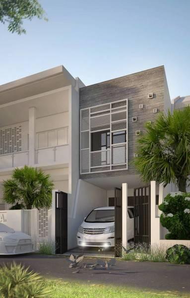 Miv Architects (Ar. Muhammad Ikhsan Hamiru, Iai & Partners) Home & Mini Office Makassar, Sulawesi Selatan, Indonesia Makassar, Sulawesi Selatan, Indonesia Facade Minimalis,modern 5021