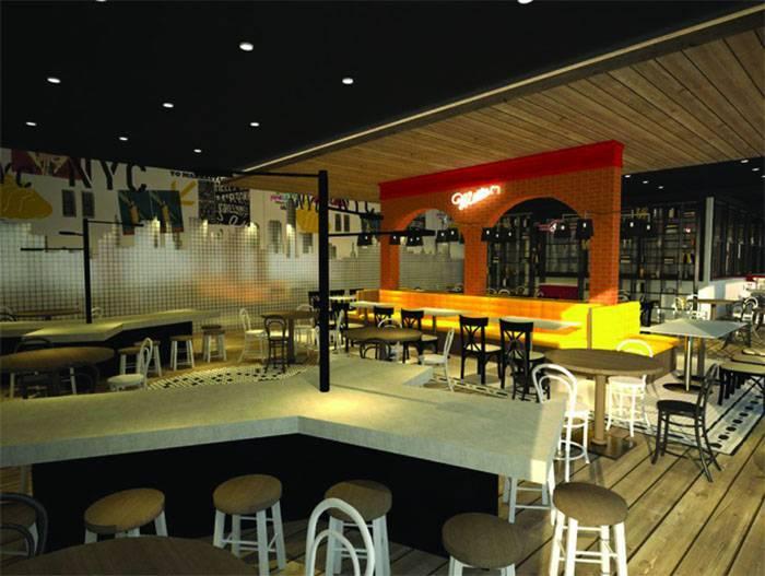 Foto inspirasi ide desain ruang makan industrial Corner-view-1 oleh Farissa Achmadi di Arsitag