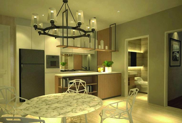 Farissa Achmadi Show Unit Apartment At Pesanggrahan Jakarta, Indonesia Jakarta, Indonesia Kitchen-Set Minimalis 5364