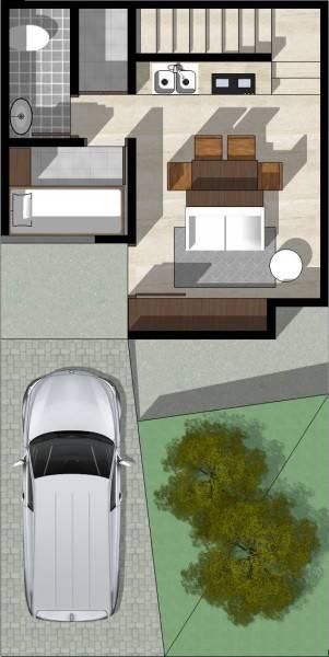 Monokroma Architect Cisauk Landed House Jakarta Jakarta Type 1 - 1St Floor Plan Minimalis 830