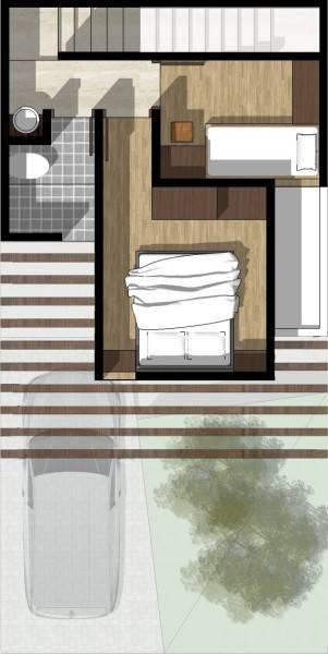 Monokroma Architect Cisauk Landed House Jakarta Jakarta Type 2 - 2Nd Floor Plan Minimalis 831