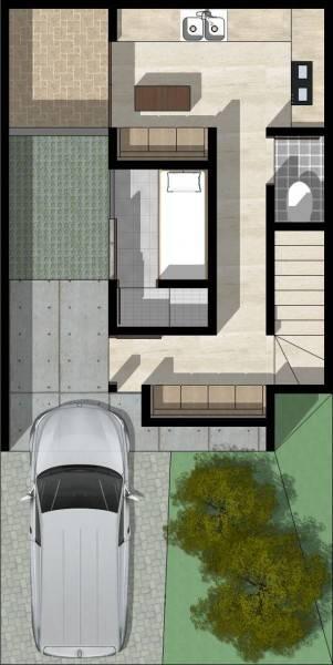 Monokroma Architect Cisauk Landed House Jakarta Jakarta Type 2 - 1St Floor Plan Minimalis 832