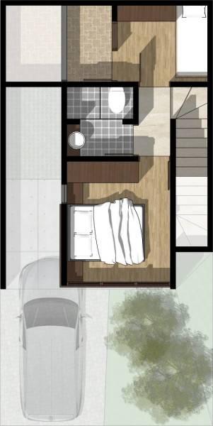 Monokroma Architect Cisauk Landed House Jakarta Jakarta Type 2 - 2Nd Floor Plan Minimalis 833