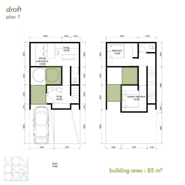Monokroma Architect Cisauk Landed House Jakarta Jakarta Draft 1 Minimalis 838