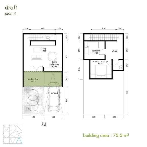 Monokroma Architect Cisauk Landed House Jakarta Jakarta Draft 4 Minimalis 842