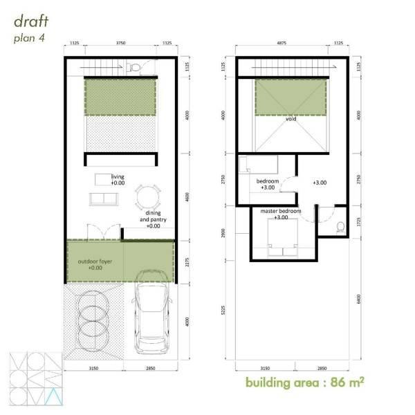 Monokroma Architect Cisauk Landed House Jakarta Jakarta Draft 4A Minimalis 843