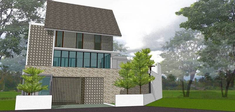 Foto inspirasi ide desain rumah minimalis Alternative design oleh Monokroma Architect di Arsitag