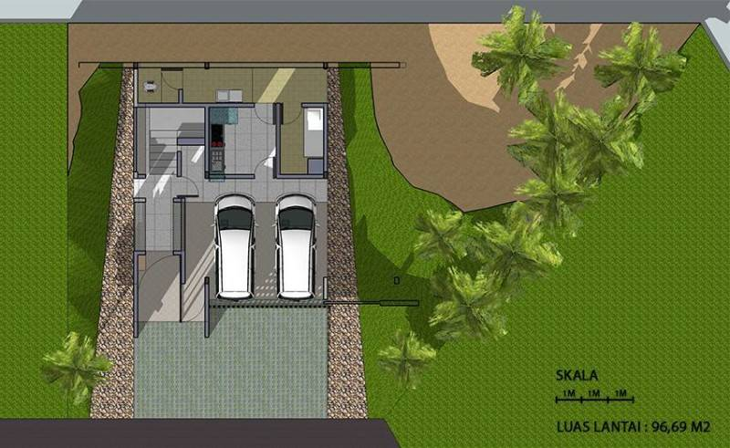 Monokroma Architect Cinere House Jakarta Jakarta 1St Floor Plan Modern 847