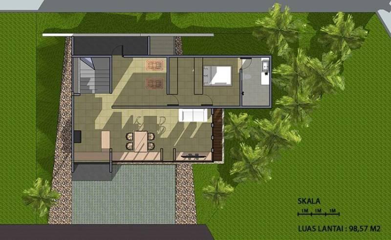 Monokroma Architect Cinere House Jakarta Jakarta 2Nd Floor Plan Modern 848