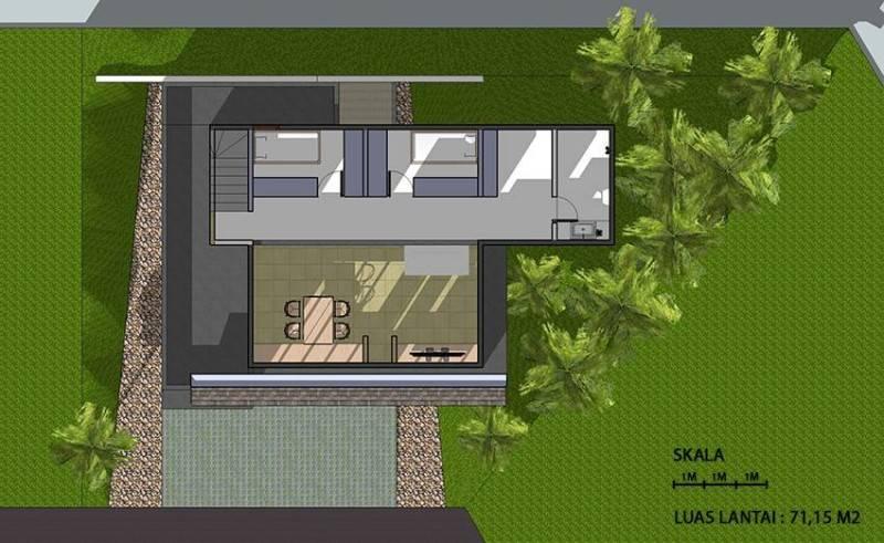 Monokroma Architect Cinere House Jakarta Jakarta 3Rd Floor Plan Modern 849