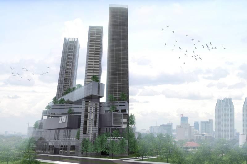 Foto inspirasi ide desain apartemen Facade oleh Monokroma Architect di Arsitag