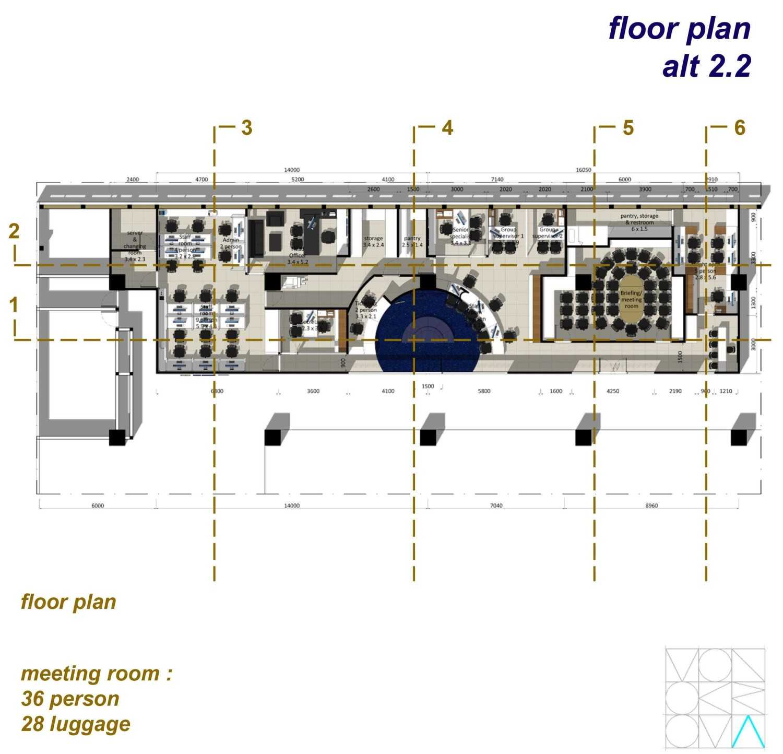 Monokroma Architect Saudi Arabian Airlines Office Soekarno Hatta Airport Terminal 3 Soekarno Hatta Airport Terminal 3 Floor-Plan-Alternative-2-2 Modern 14729