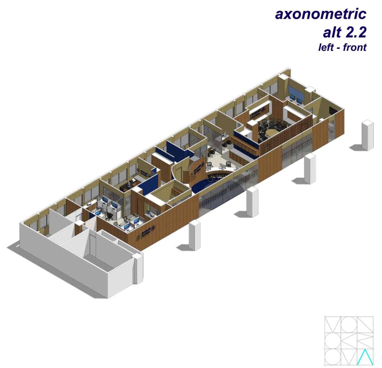 Monokroma Architect Saudi Arabian Airlines Office Soekarno Hatta Airport Terminal 3 Soekarno Hatta Airport Terminal 3 Axonometric-Alternative-2-2-Left-Front Modern 14736