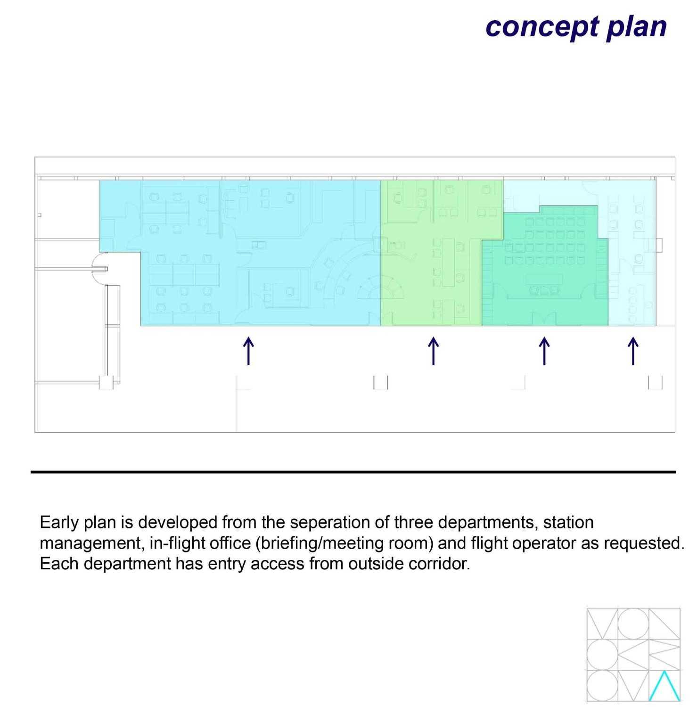 Monokroma Architect Saudi Arabian Airlines Office Soekarno Hatta Airport Terminal 3 Soekarno Hatta Airport Terminal 3 1-Concept-Plan-1 Modern 14738