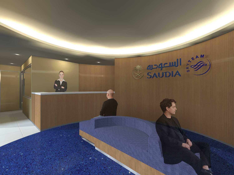 Foto inspirasi ide desain lobby kontemporer Lobby-alternative-1 oleh Monokroma Architect di Arsitag
