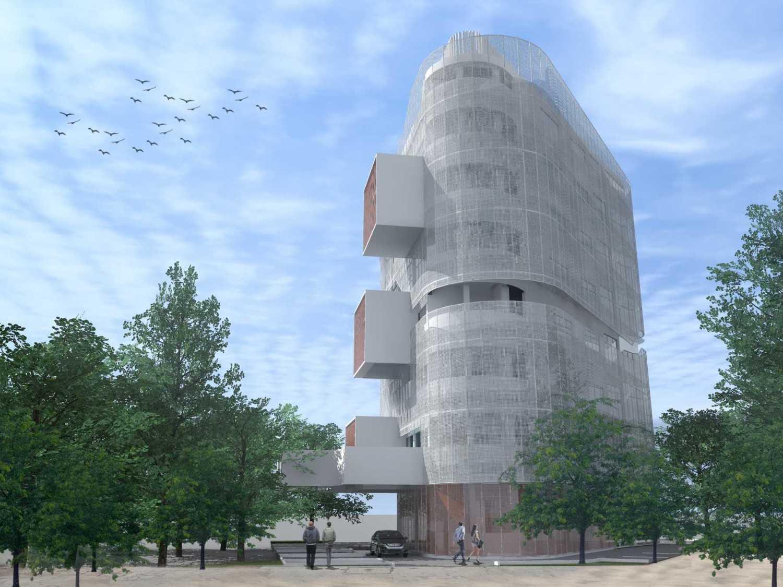 Monokroma Architect Eku Headquarter Jakarta Jakarta 2-Rear-Perspective Modern 14787