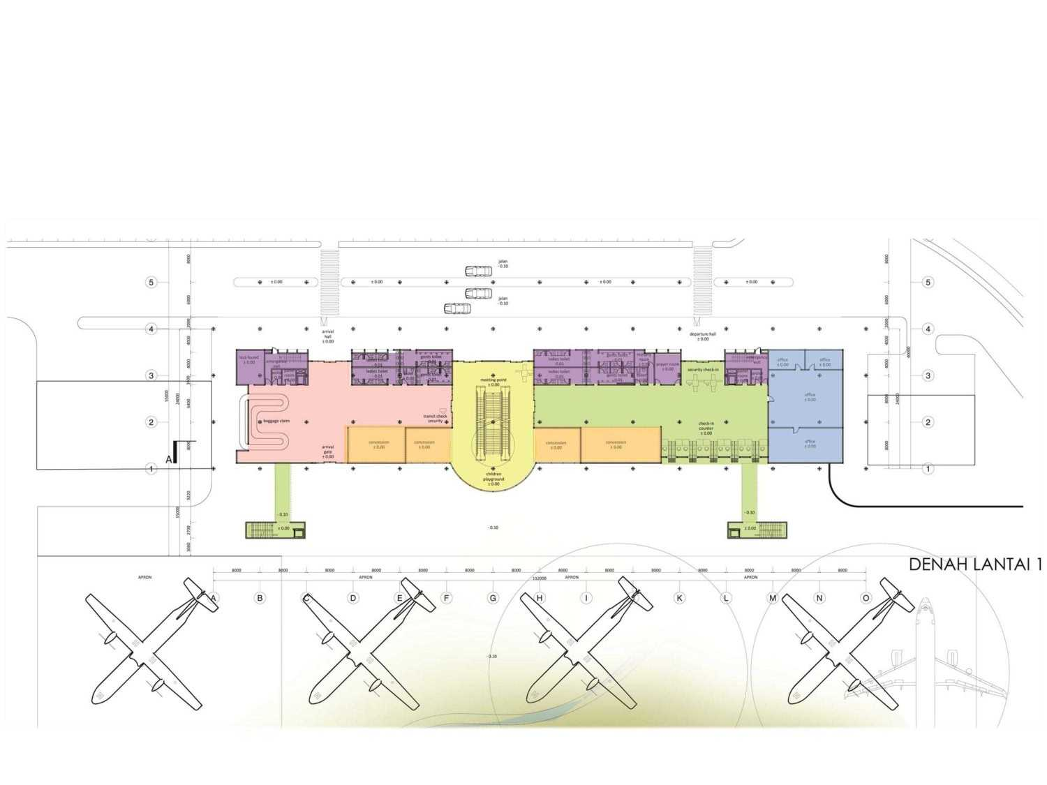 Monokroma Architect Mali Alor Airport  Alor, Ntt Alor, Ntt 6-Ground-Floor-Plan Kontemporer 14816