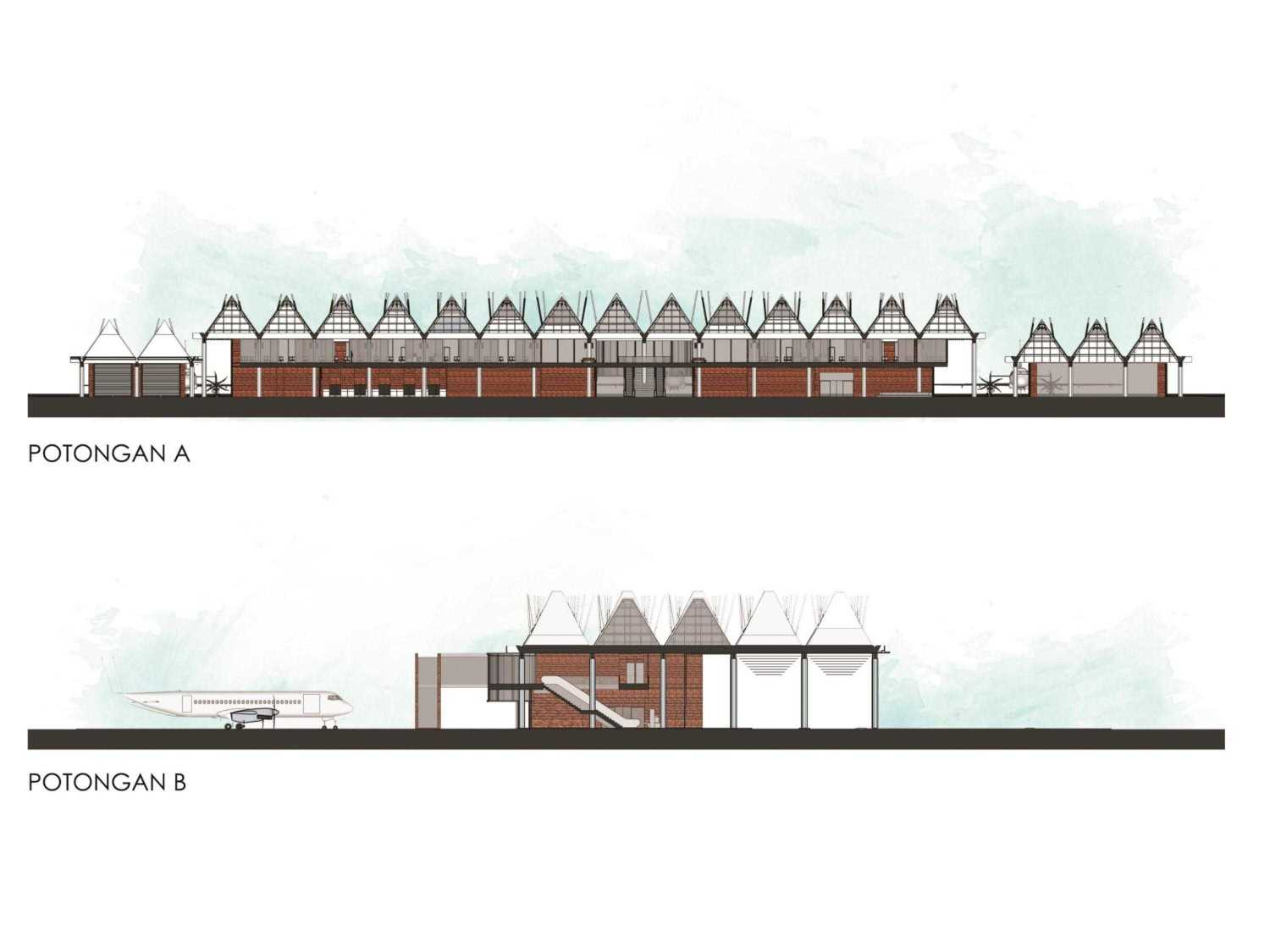 Monokroma Architect Mali Alor Airport  Alor, Ntt Alor, Ntt 8-Section Kontemporer 14818