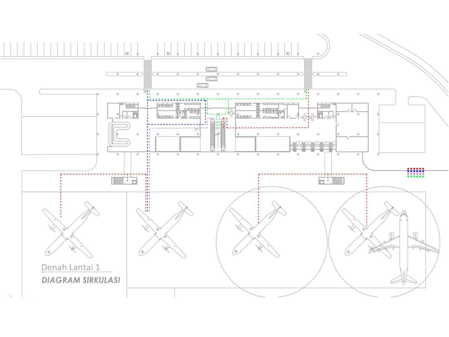 Monokroma Architect Mali Alor Airport  Alor, Ntt Alor, Ntt 12-Circulation-Diagram Kontemporer 14823